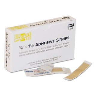 First Aid Only 3/8 x 1 1/2 Plastic Bandage, 80/Box