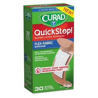 Curad QuickStop 3/4 x 2.83 Flex Fabric Bandages, 30/Box