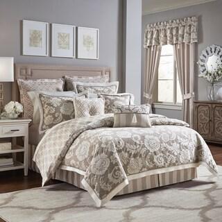 Croscill Anessa Chenille Jacquard Woven Floral 4 Piece  Comforter set