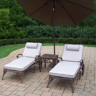Merit Shaded Aluminum 5-piece Cushioned Outdoor Lounge Set