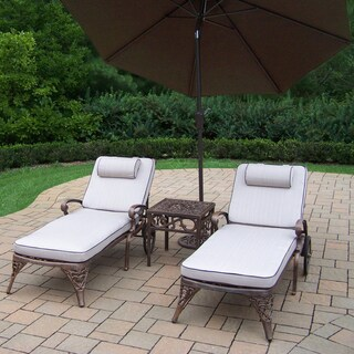 Merit Shaded Aluminum 5-piece Cushioned Outdoor Lounge Set