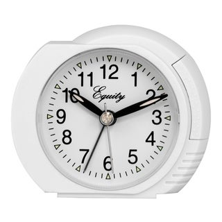 White Quartz 3.5-in Analog Bedside Alarm Clock