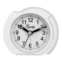 Equity by La Crosse 27002 White Quartz Analog Bedside Alarm Clock