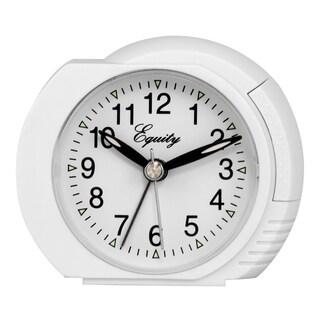 White Quartz Analog Bedside Alarm Clock