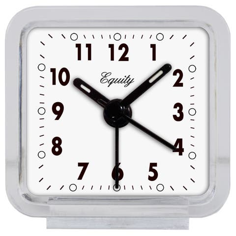 Equity by La Crosse 21038 Clear Acrylic Analog Alarm Clock