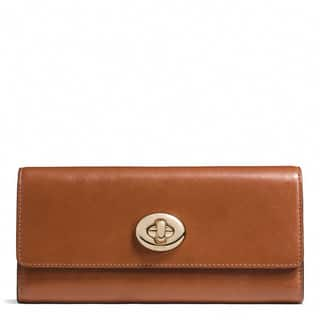 Coach Caramel Leather Turnlock Slim Envelope Wallet|https://ak1.ostkcdn.com/images/products/13477136/P20163513.jpg?impolicy=medium