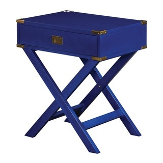 OSP Home Furnishings Wellington X Base Accent Table (Blue)