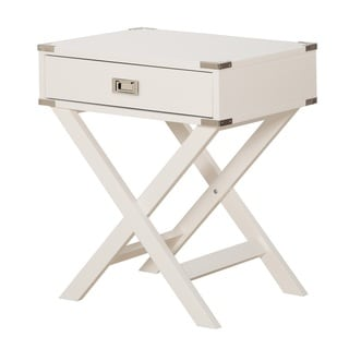 OSP Home Furnishings Wellington X Base Accent Table (White)