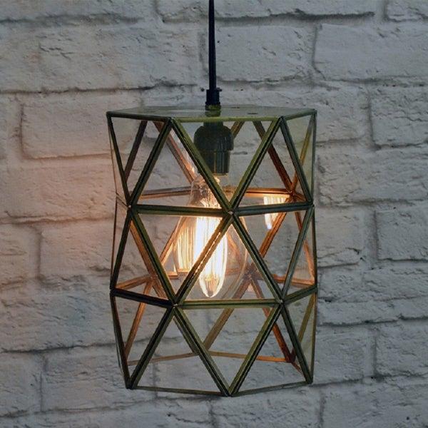 Large Glass Terrarium Hanging Lamp