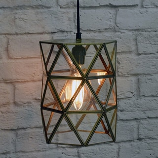 Large Glass Terrarium Hanging Lamp