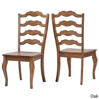 Eleanor French Ladder Back Wood Dining Chair (Set of 2) by iNSPIRE Q Classic (Option: Oak)