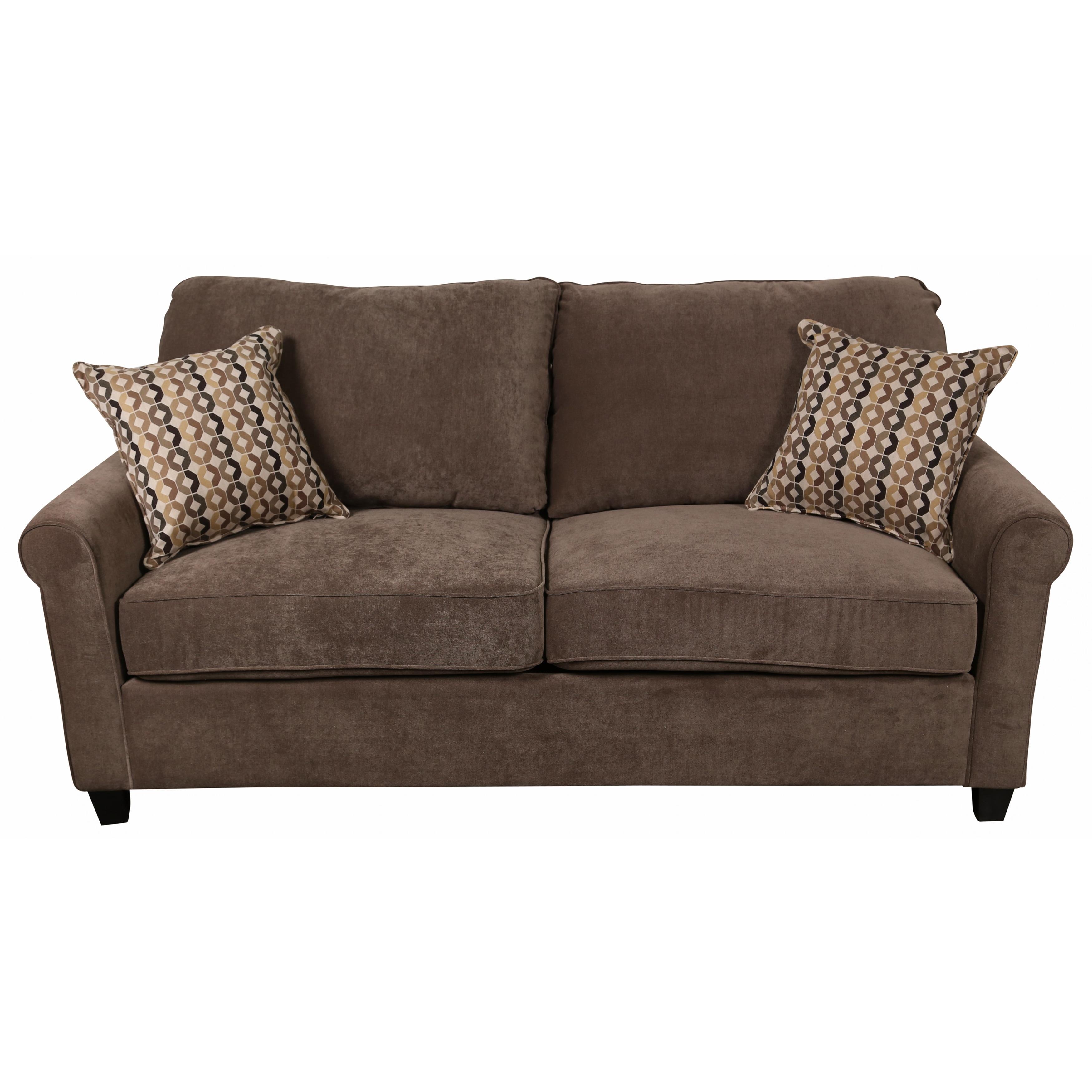 Porter Serena Warm Grey Microfiber Queen Sleeper Sofa wit...