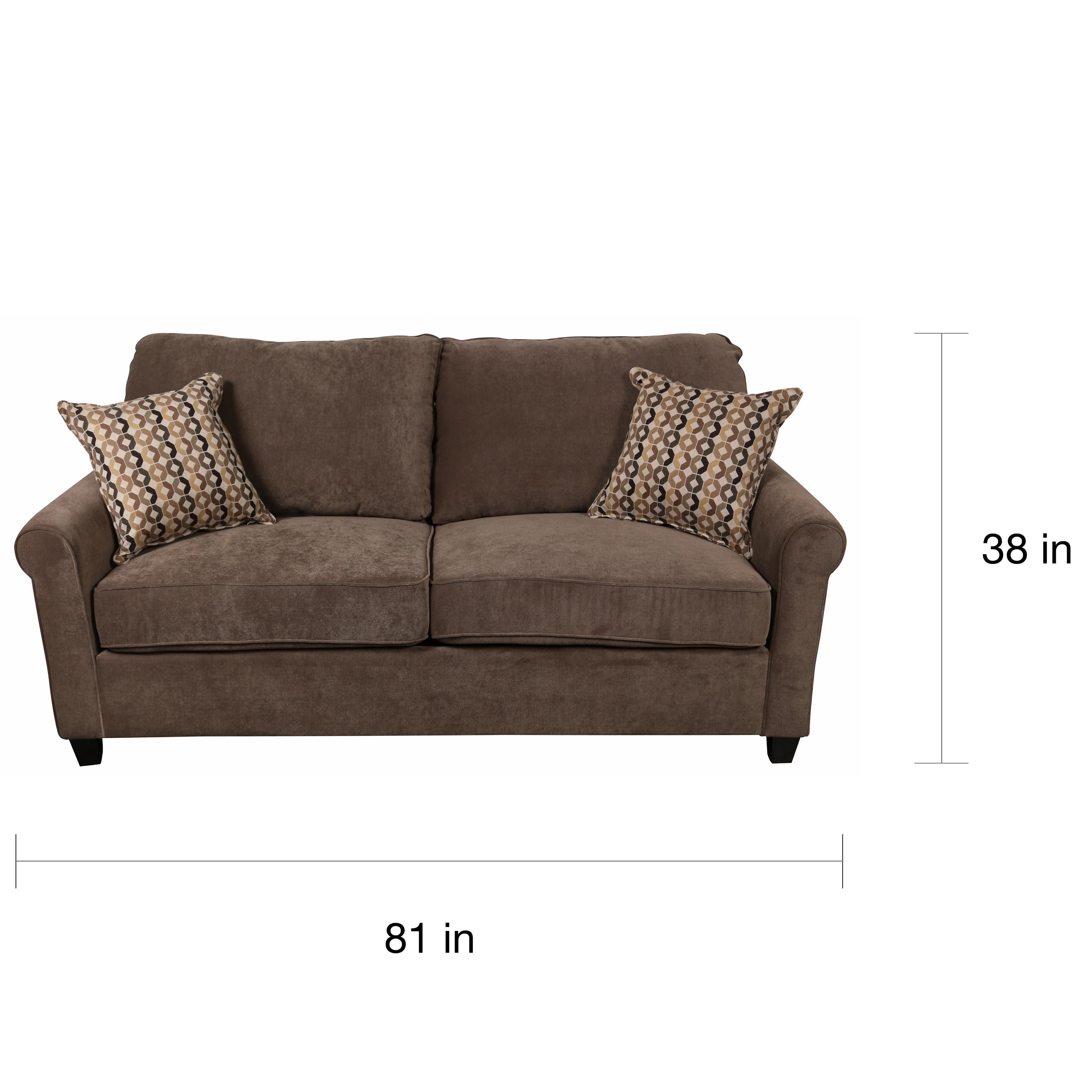 - Shop Porter Serena Warm Grey Microfiber Queen Sleeper Sofa With