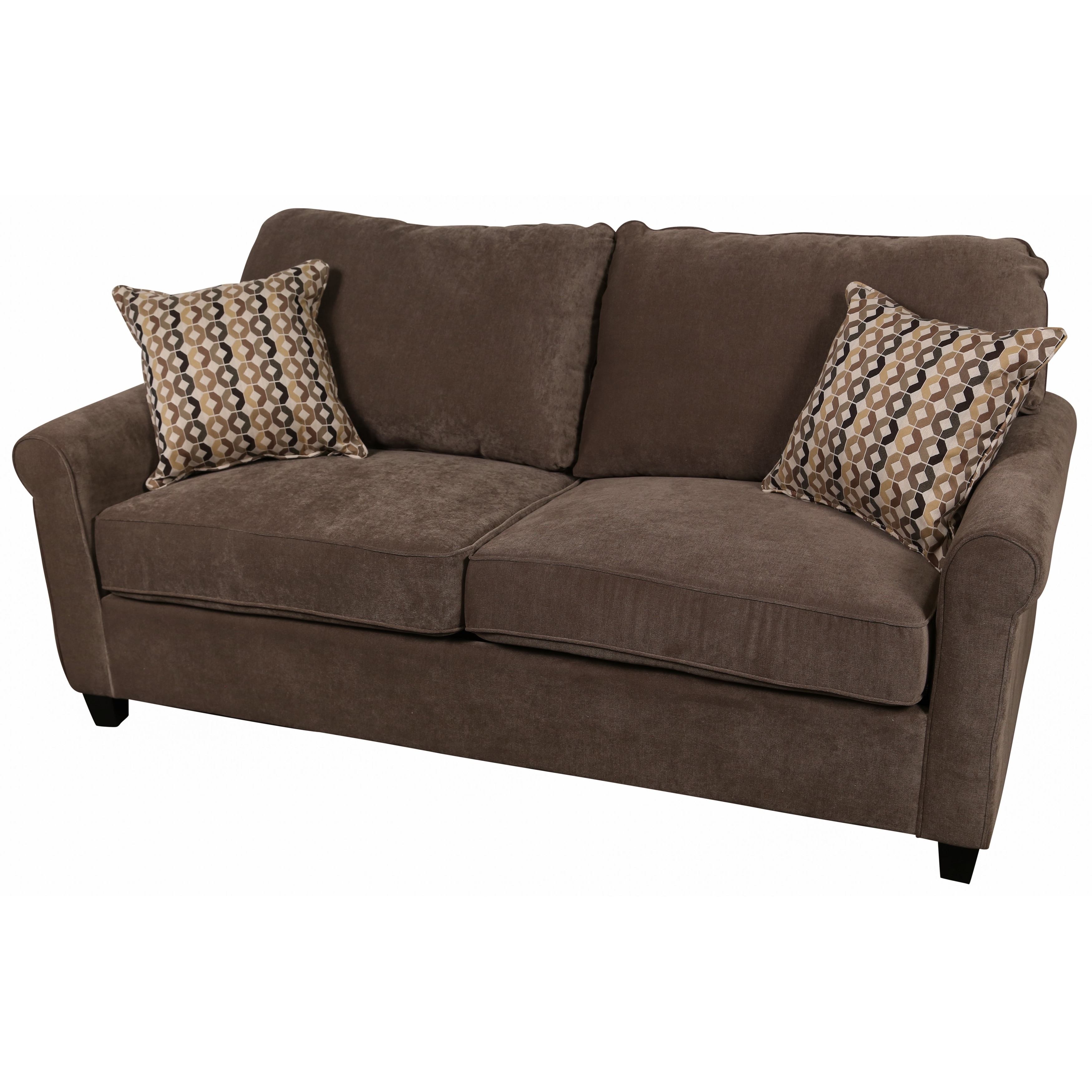 Warm Grey Microfiber Queen Sleeper Sofa