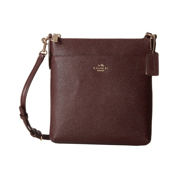 shop coach swingpak oxblood embossed textured leather north south rh overstock com