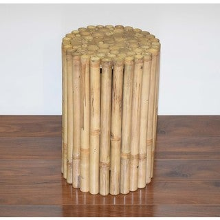 Rustic Round Bamboo stool/side table