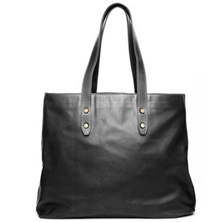 Satch and Fable Deledda Black Italian Leather Tote