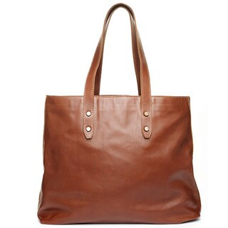 Satch and Fable Maraini Brown Italian Leather Tote