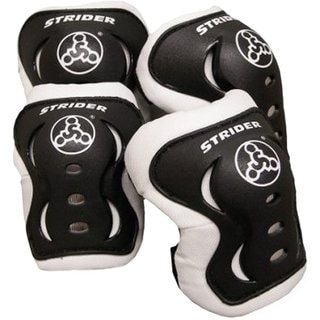 Strider Black Plastic Knee and Elbow Pad Set