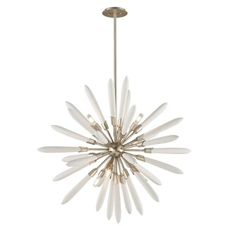Corbett Lighting Altitude 6-light Modern Silver Leaf Pendant