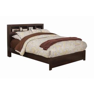 Alpine Solana Espresso Bookcase Headboard Platform Bed
