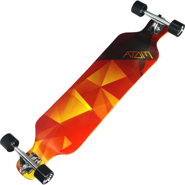 Atom 39-inch Orange Geo Drop Deck Longboard