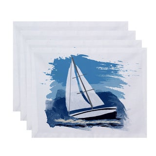 18 x 14-inch Sailing the Seas Geometric Print Placemat (Set of 4)