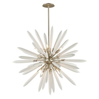 Corbett Lighting Altitude 8-light Modern Silver Leaf Pendant