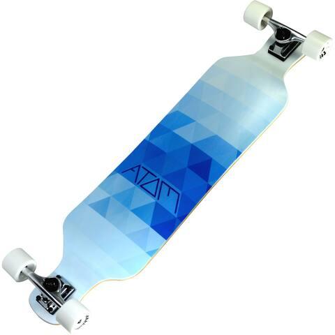 Atom 'Blue Triangles' 9-ply Maple Laminate 39-inch Drop-deck Longboard