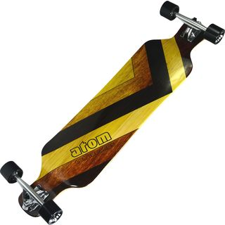 "Atom 39"" Drop Deck Longboard - Woody"