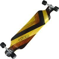 "Atom 39"" Drop Deck Longboard - Woody"