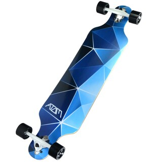 Atom Blue Geo Maple Laminate 40-inch Drop-through Longboard