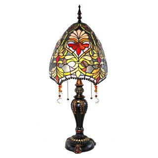 Beaded, Stained Glass Tiffany-Style Table Lamp (30.5 in.)