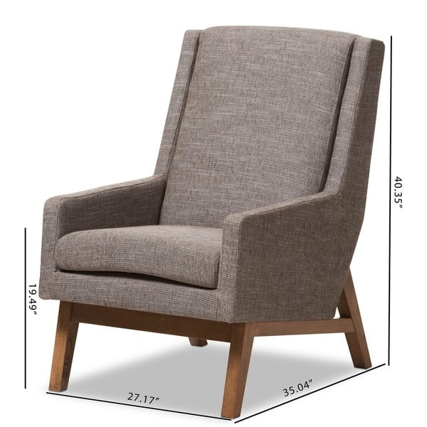 Amazing Shop Baxton Studio Methodios Mid Century Modern Upholstered Uwap Interior Chair Design Uwaporg