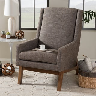 Baxton Studio Methodios Mid-Century Modern Upholstered Lounge Chair