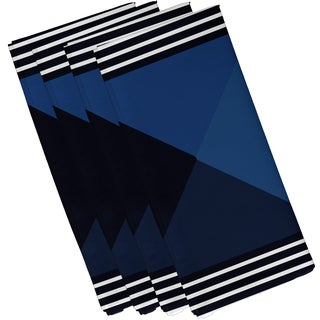 Nautical Angles Geometric Print Napkin (Set of 4)