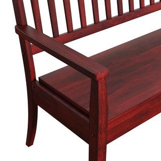 Eleanor Slat Back Wood Storage Bench by TRIBECCA HOME