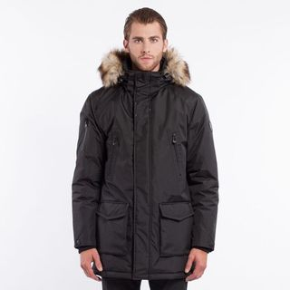Noize 'Dax' Men's Insulated Mid Length Faux Fur Hood Jacket