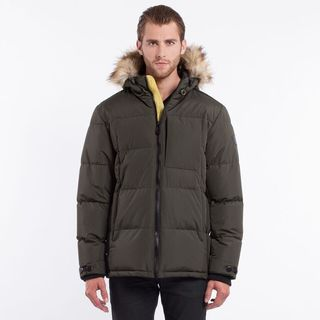 Noize Men's Bryant Mid Length Insulated Hooded Puffer Jacket