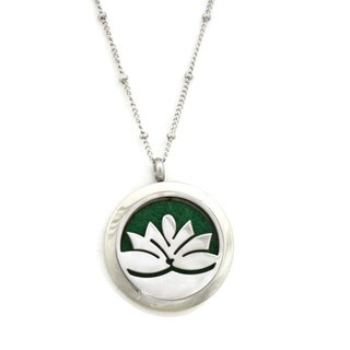 Lotus Flower Essential Oil Diffuser 20-inch Necklace