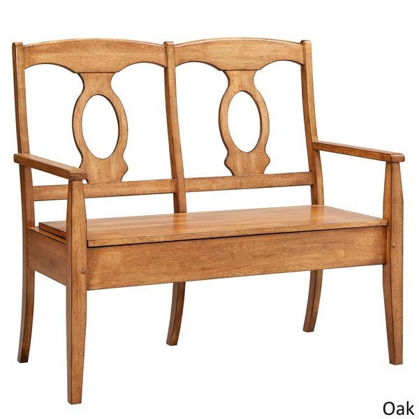 Phenomenal Shop Eleanor Napoleon Back Wood Storage Bench By Inspire Q Gmtry Best Dining Table And Chair Ideas Images Gmtryco