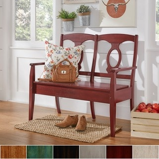Eleanor Napoleon Back Wood Storage Bench by TRIBECCA HOME