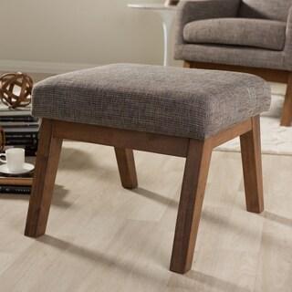 Baxton Studio Methodios Mid-Century Modern Upholstered Ottoman