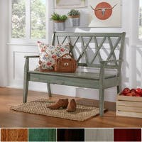 Eleanor X Back Wood Storage Bench by iNSPIRE Q Classic