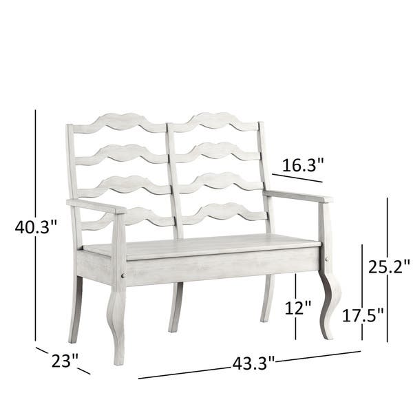 Stupendous Shop Eleanor French Ladder Back Wood Storage Bench By Creativecarmelina Interior Chair Design Creativecarmelinacom