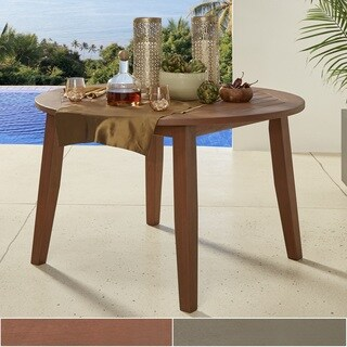 Yasawa Modern Wood Outdoor Round Dining Table by iNSPIRE Q Oasis