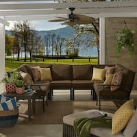 Matira Metal Modern 6 Piece 8 Seater U Shaped Outdoor Sectional by iNSPIRE Q Oasis
