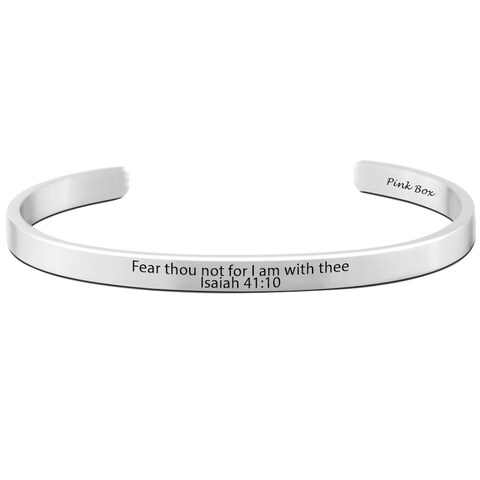 Pink Box Stainless Steel Holy Scripture Cuff