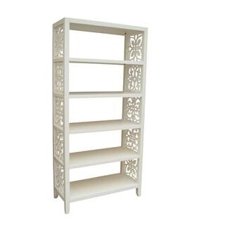 Designer White Finish Bookcase