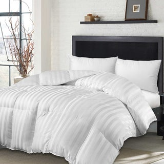 Hotel Grand Oversized 500 Thread Count Siberian White Down Comforter And Feather Pillow Set